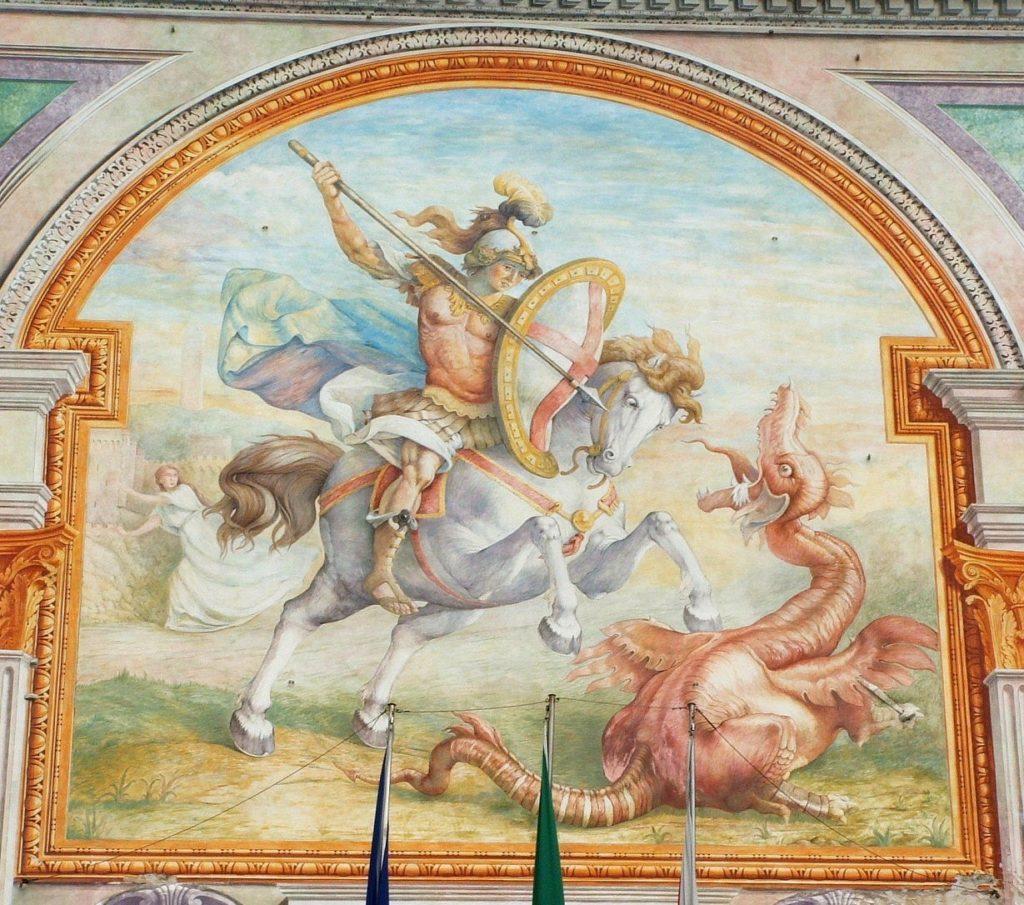 Affresco di San Giorgio e il Drago