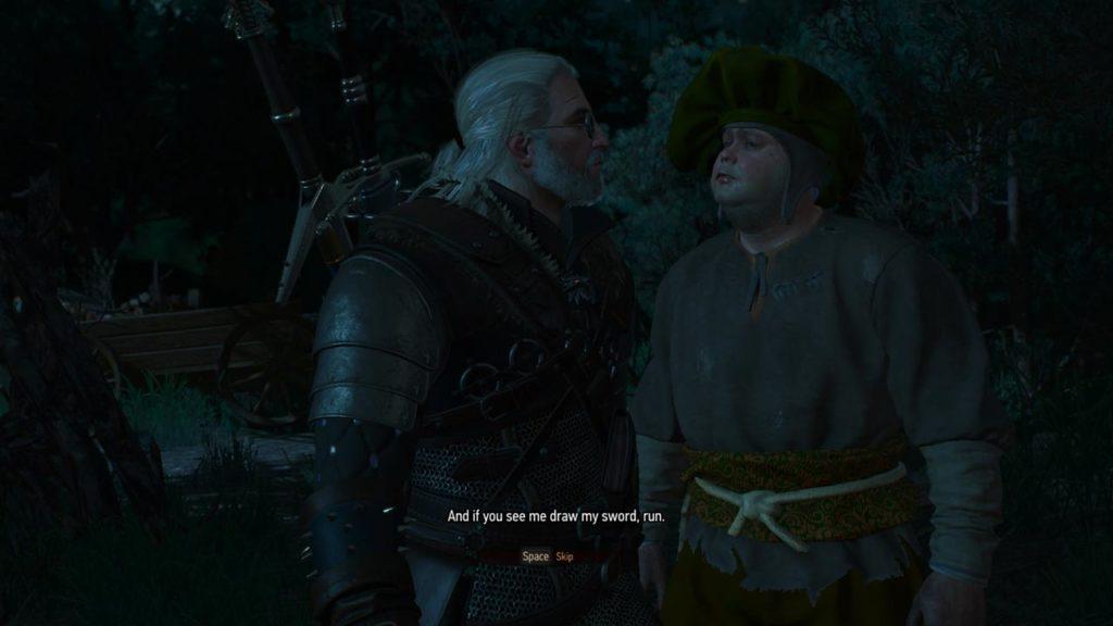 Geralt alle prese con la quest dell'albero sanguinante