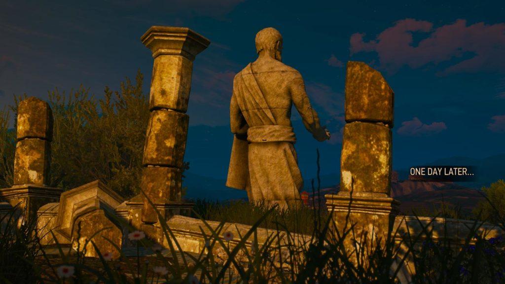 Geralt contribuisce alla costruzione dell'enorme statua del Profeta Lebioda
