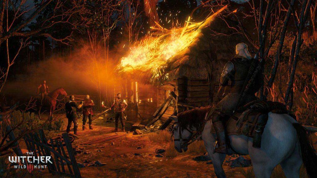 Geralt affronta allo stesso modo sia i predoni sia i cacciatori di streghe di Radovid