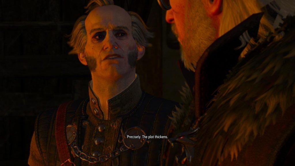 Geralt insieme a Regis, un vecchio amico dello Strigo nonché un Vampiro Superiore