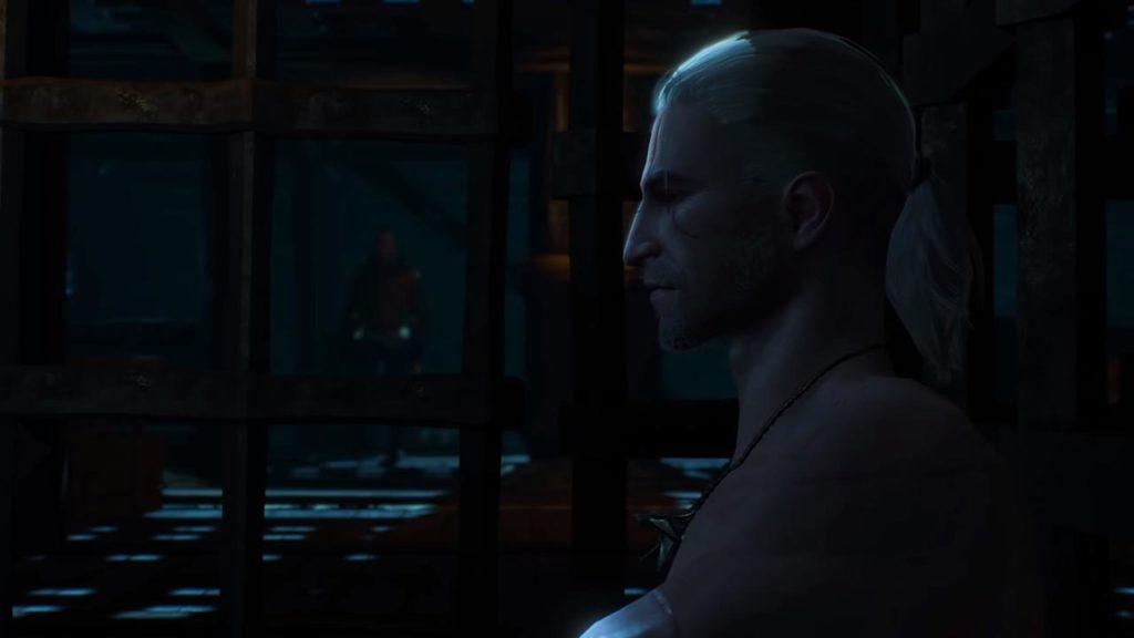 Geralt incontra Gaunter O'Dim nel DLC Hearts of Stone