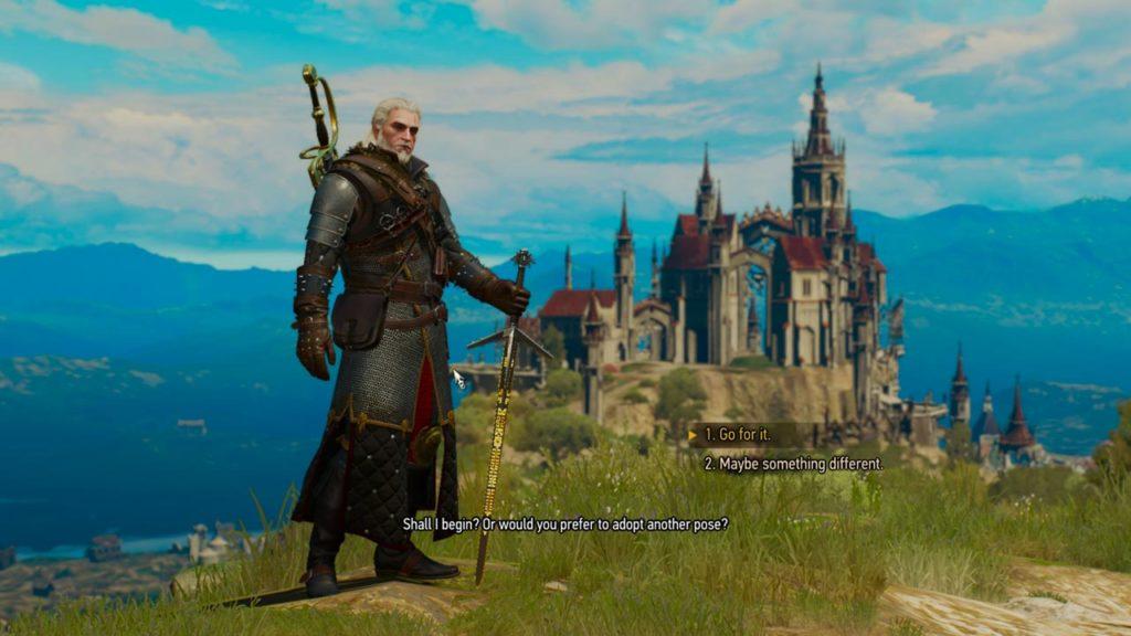 Geralt posa per il suo ritratto