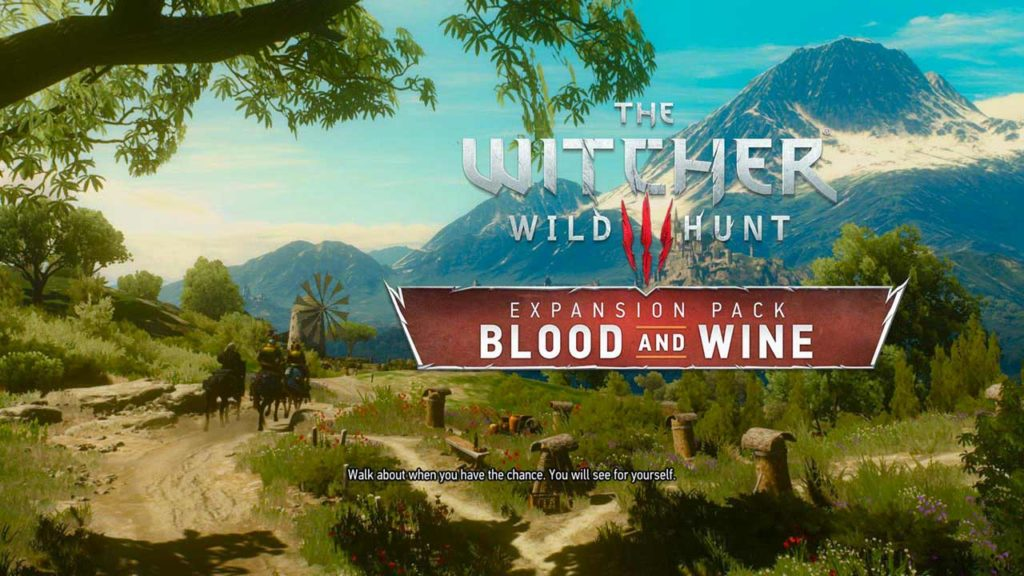 L'inizio del DLC Blood & Wine di The Witcher 3 - Wild Hunt