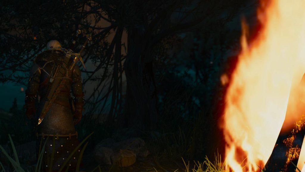 Geralt indossa il set d'armatura della Scuola dell'Orso