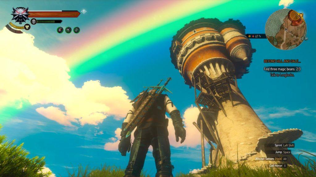 Il paesaggio fiabesco che ci ritroviamo a esplorare nel DLC Blood & Wine