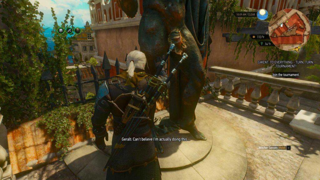 La ricompensa di Geralt per aver recuperato i... gioielli della statua di Reginald d'Aubry