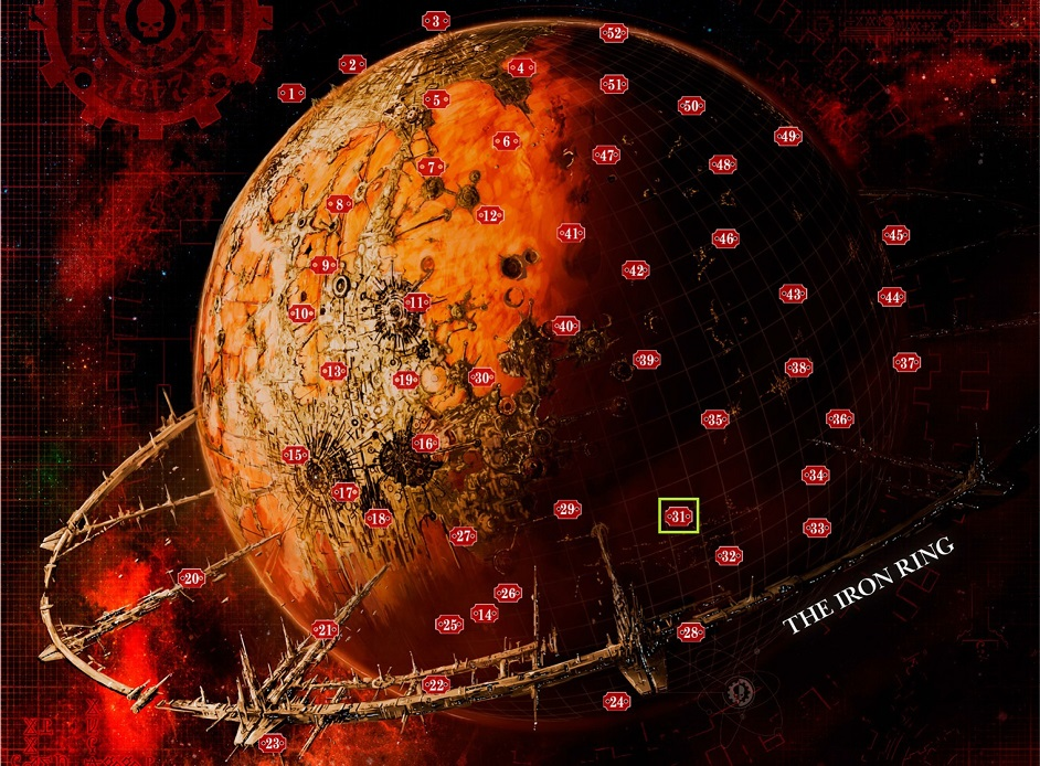 Rappresentazione di Marte in Warhammer 40.000