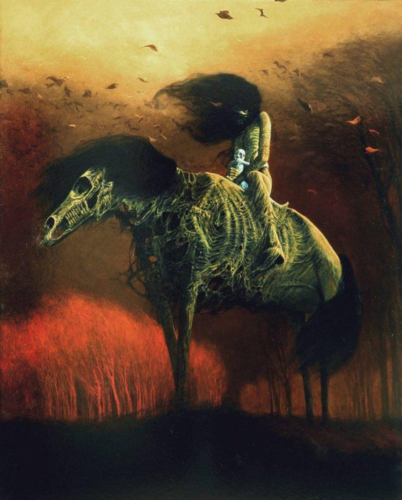 Un quadro di Zdzisław Beksiński