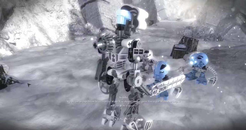 bionicle quest for mata nui kopaka e matoran