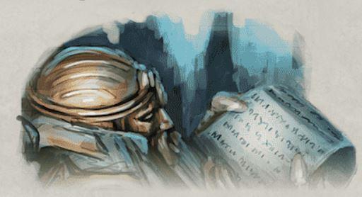 Kharadron che legge il Codice