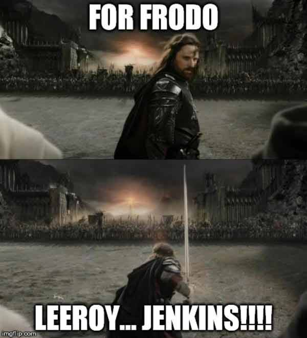 signore degli anelli leeroy jenkins