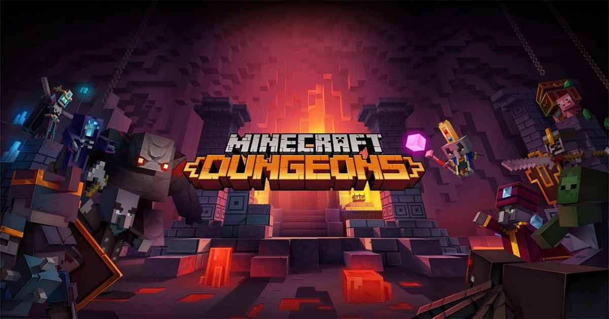 minecraft dungeons copertina