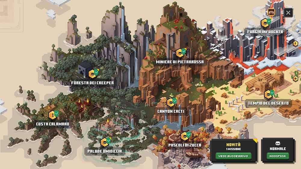 minecraft dungeons mappa