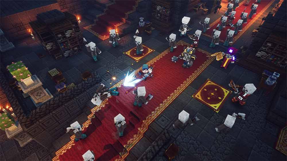 minecraft dungeons combattimento