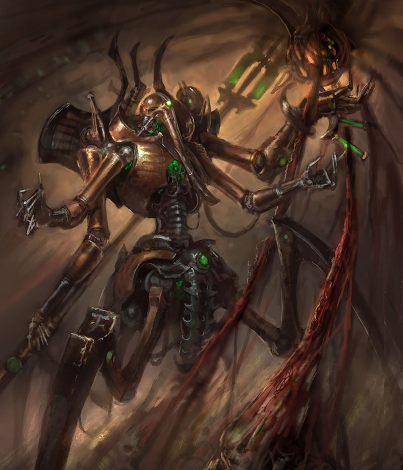 Artwork del Necron Illuminor Szeras