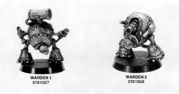 Vecchi modelli dei Cavalieri Warden