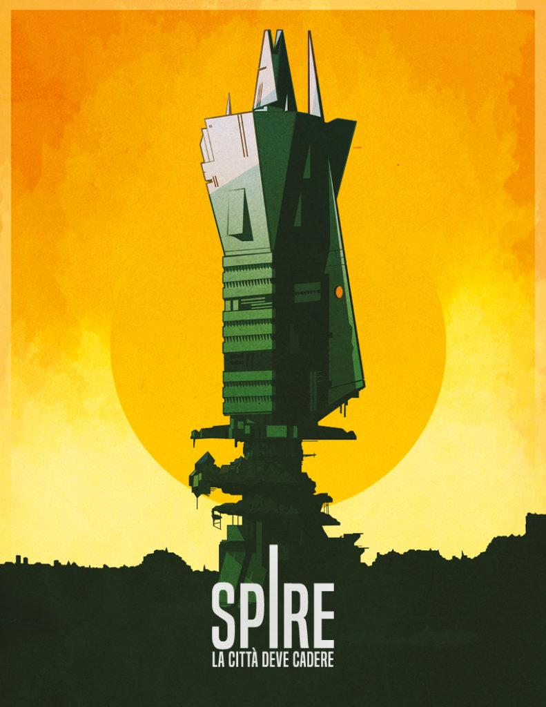 Spire, la città come ambientazione principale del gioco.