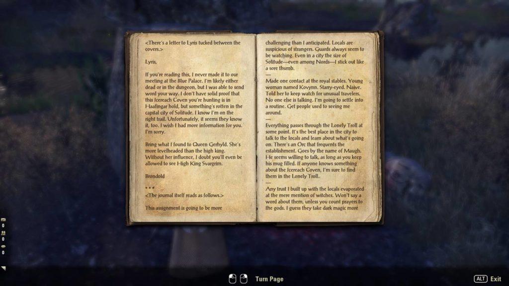 Uno degli innumerevoli libri da leggere in The Elder Scrolls Online