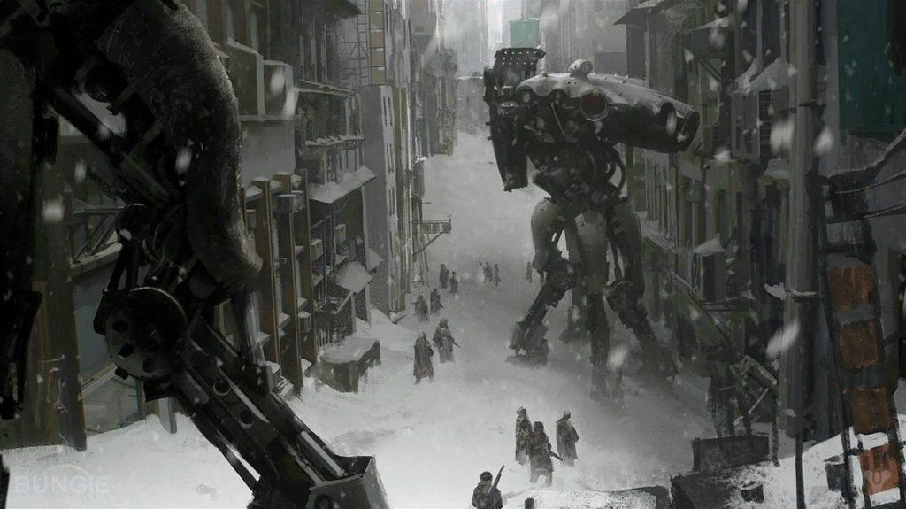 Concept per la città ghiacciata di Destiny
