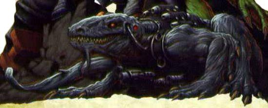 Artwork di un Loxatl di Warhammer 40.000