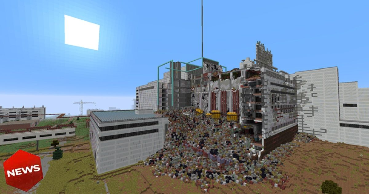 mappa di chernobyl ricostruita su minecraft