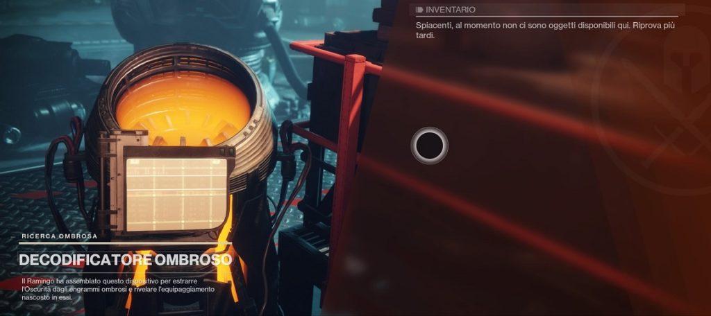 Decodificatore Ombroso di Destiny 2