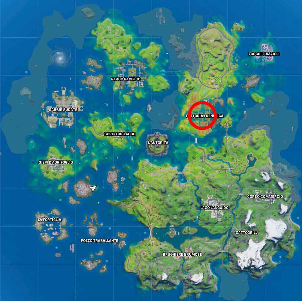 Fortnite mappa fattoria frenetica
