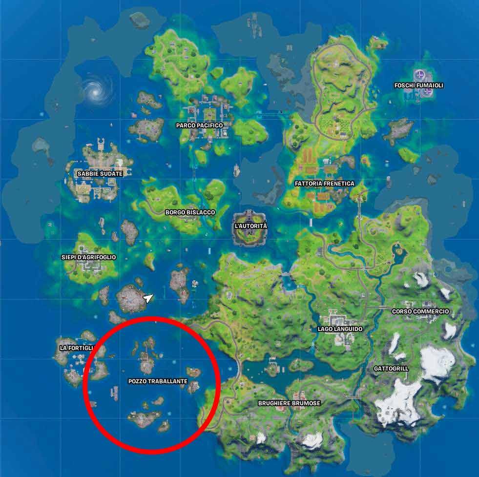 Fortnite mappa pozzo metallo