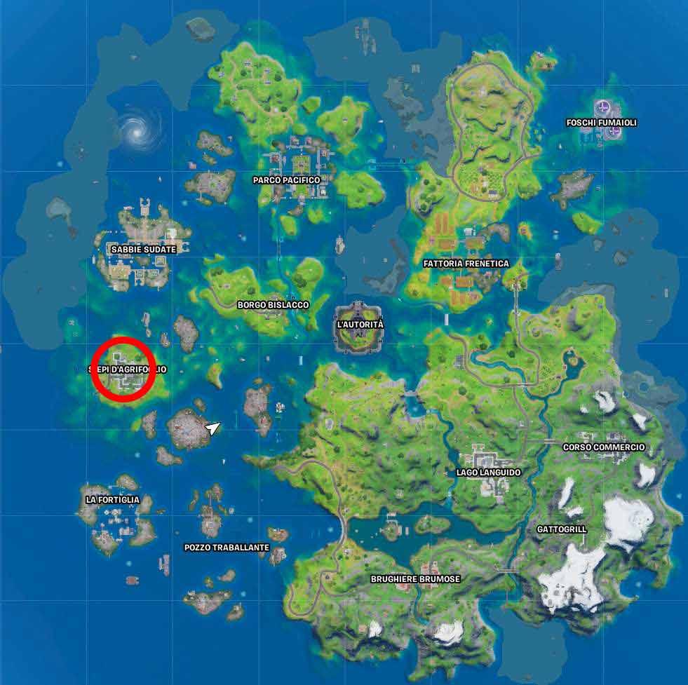 Fortnite mappa