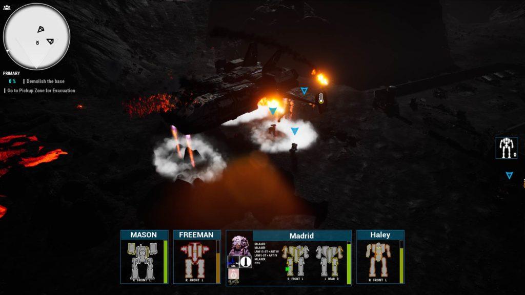 Schermata di gioco di MechWarrior 5