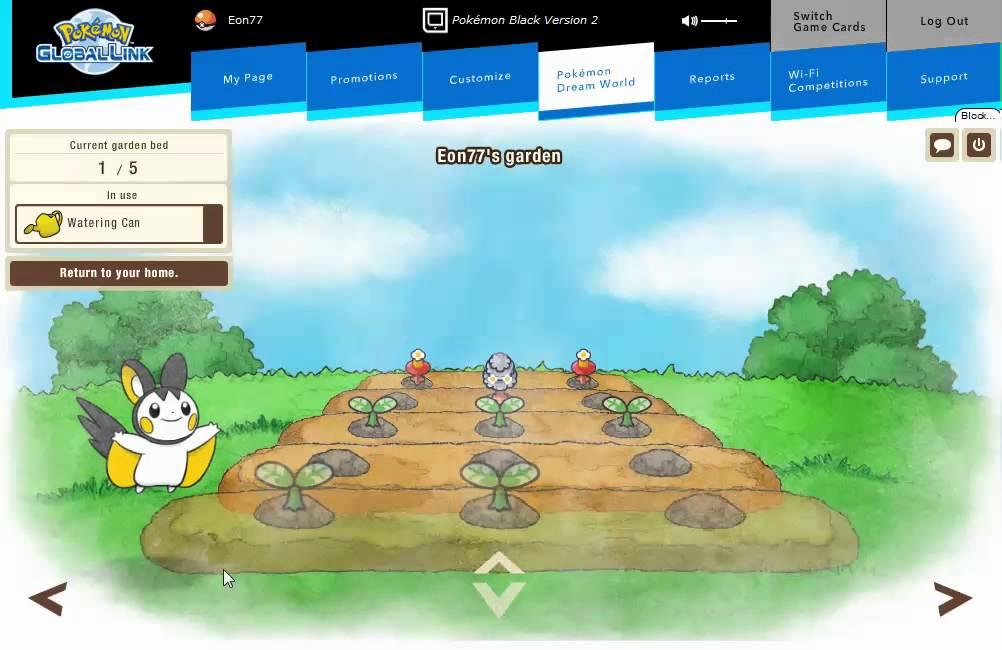 schermata di gioco del Pokémon Dream World