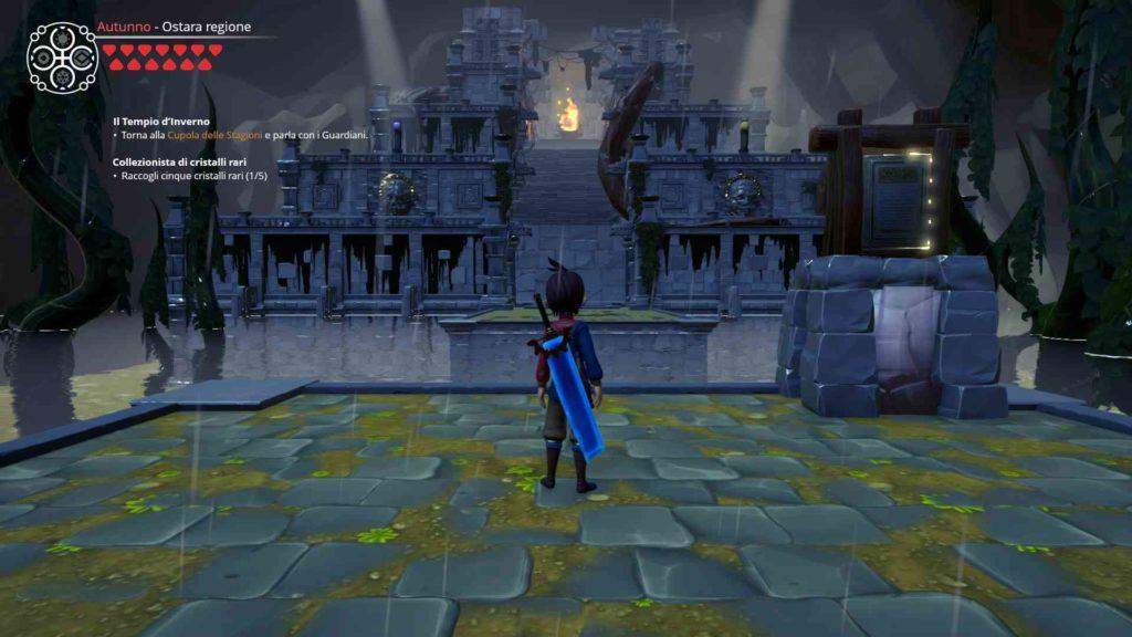 L'ingresso di uno dei dungeon