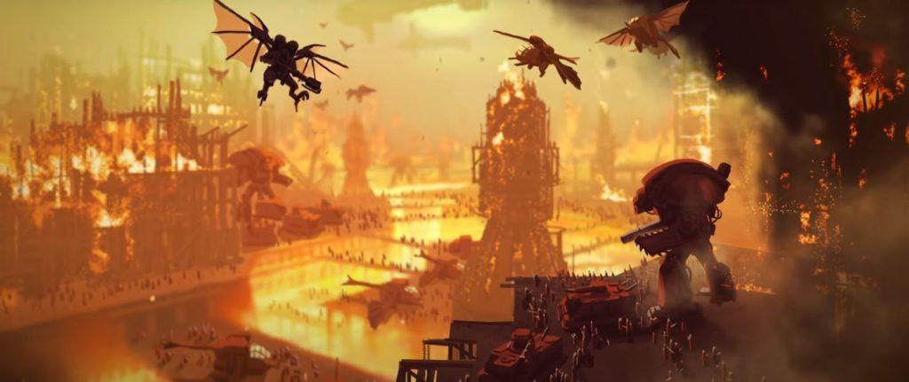 Immagine dal trailer di Guerra delle Macchine