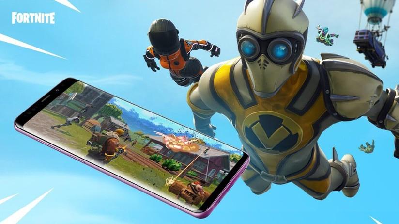Vecchia immagine promozionale dell'arrivo di Fortnite sugli Smartphone