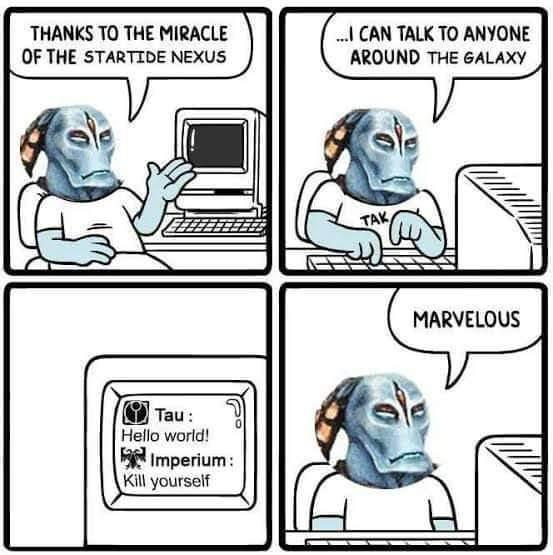 Meme sull'Impero Tau