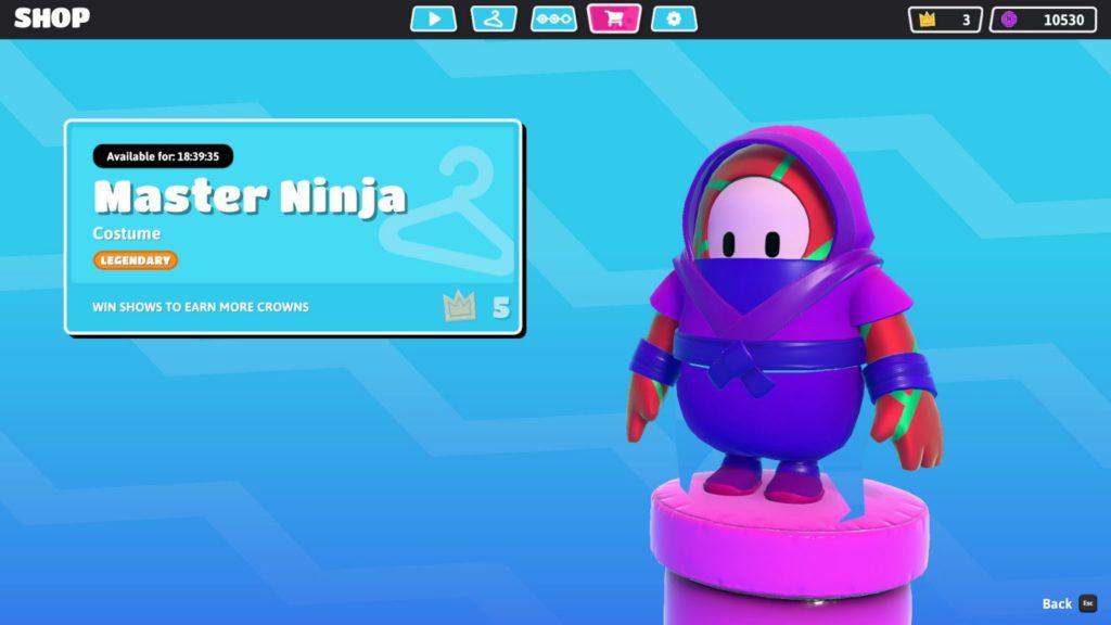 fall guys skin master ninja