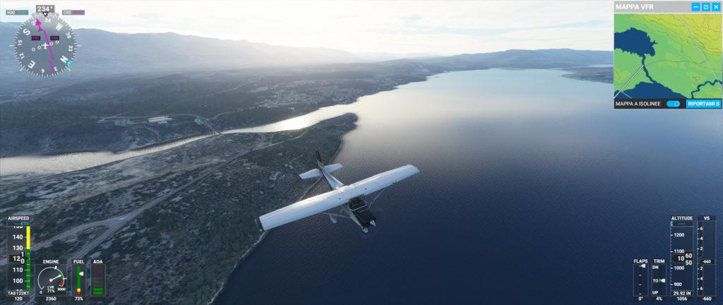 Microsoft Flight Simulator: volo su un mare interno della Croazia