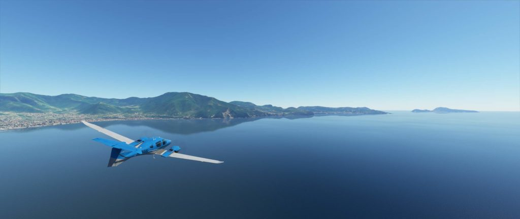 Penisola sorrentina vista da Microsoft Flight Simulator