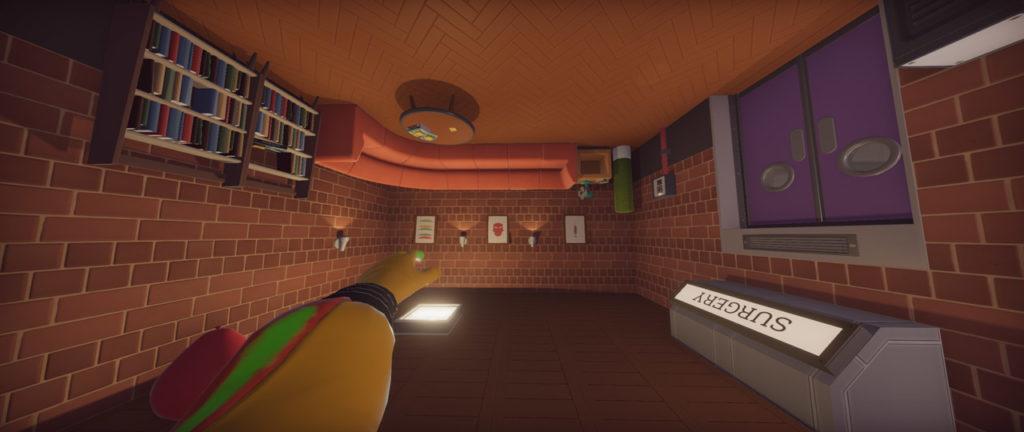 Un livello di Surgeon Simulator 2 sottosopra