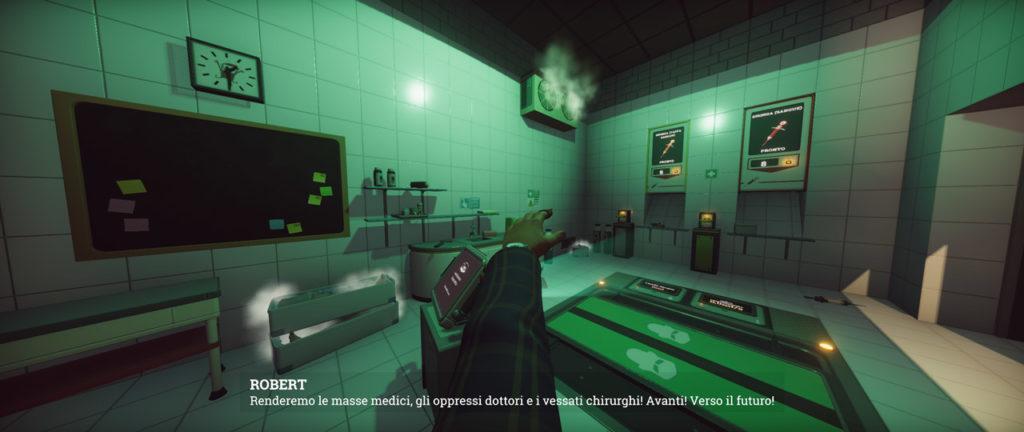 Linea di dialogo in Surgeon Simulator 2