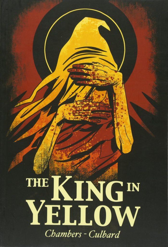 Copertina inglese dei racconti del Re in Giallo