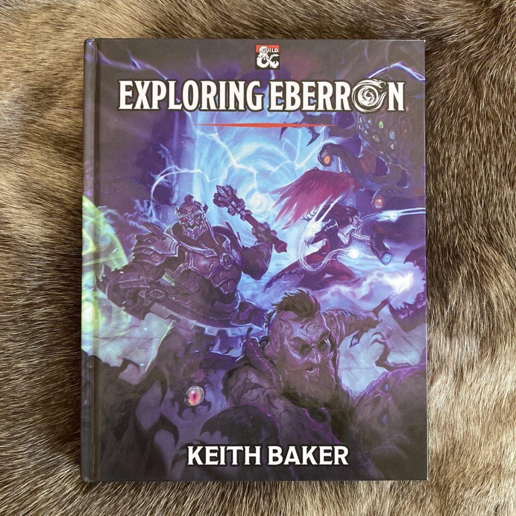 Copertina del cartonato di Exploring Eberron