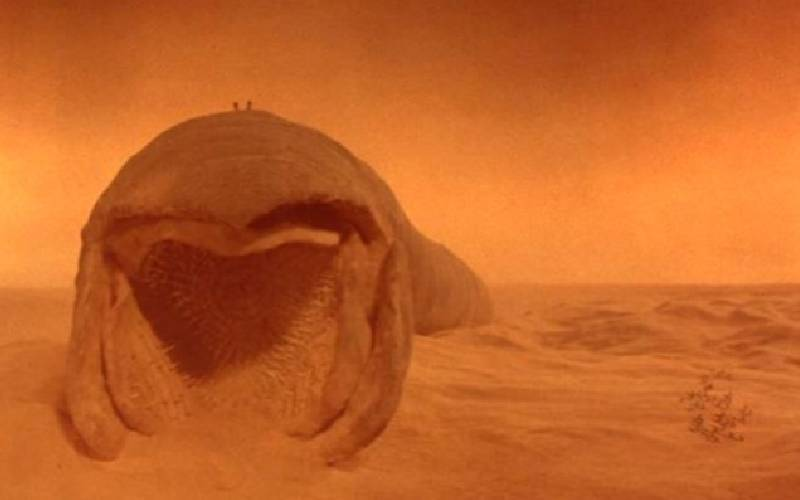 Dune, David Lynch, Dune film 1984, Dune verme delle sabbia, verme Carlo Rambaldi