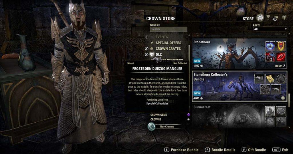 La Collector's Edition del DLC Stonethorn
