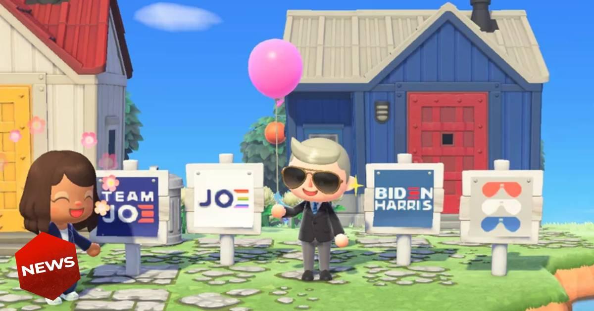 Animal Crossing, Animal Crossing New Horizons, Joe Biden, Kamal Harris, Joe Biden Animal Crossing, Joe Biden in Animal Crossing