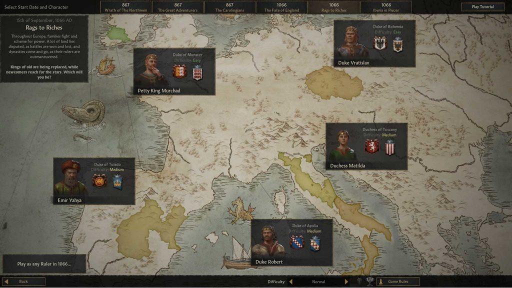 Mappa iniziale di Cursader Kings III