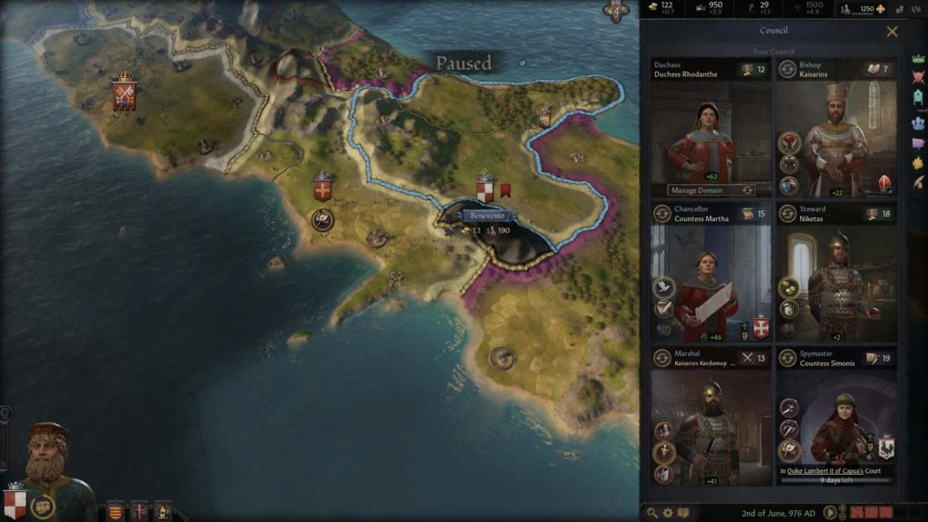 Il Consiglio in Crusader Kings III