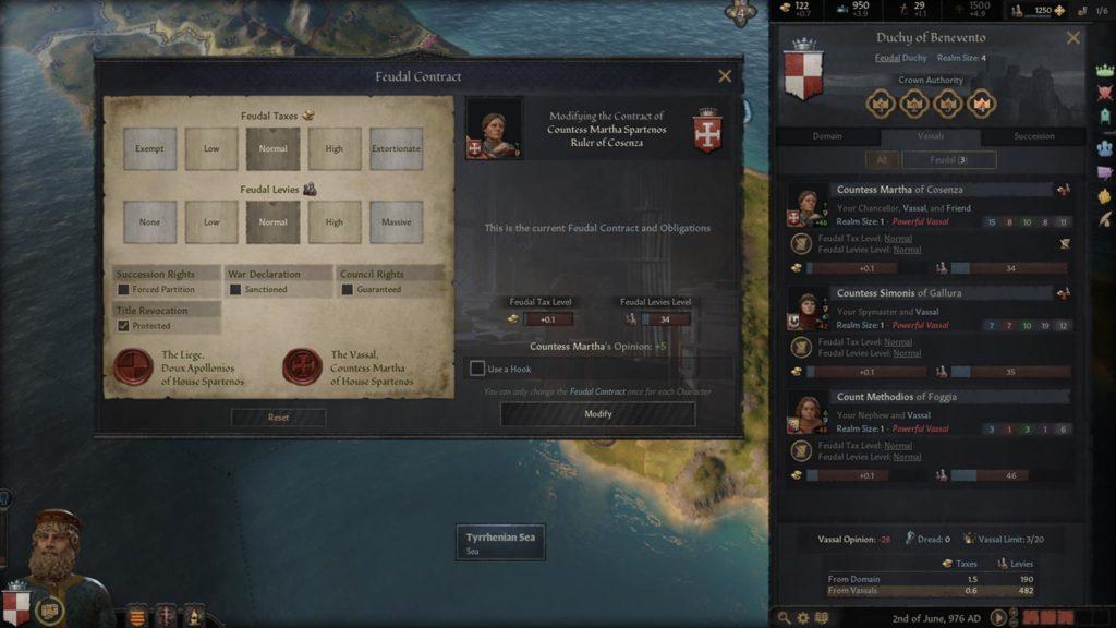 I contratti feudali in Crusader Kings III