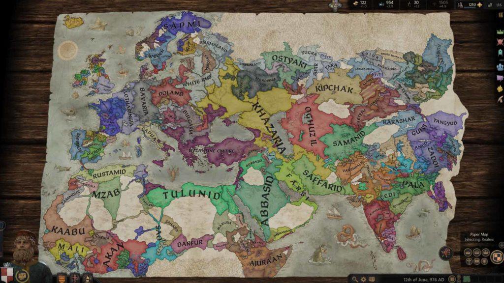 Mappa completa di Crusader Kings III